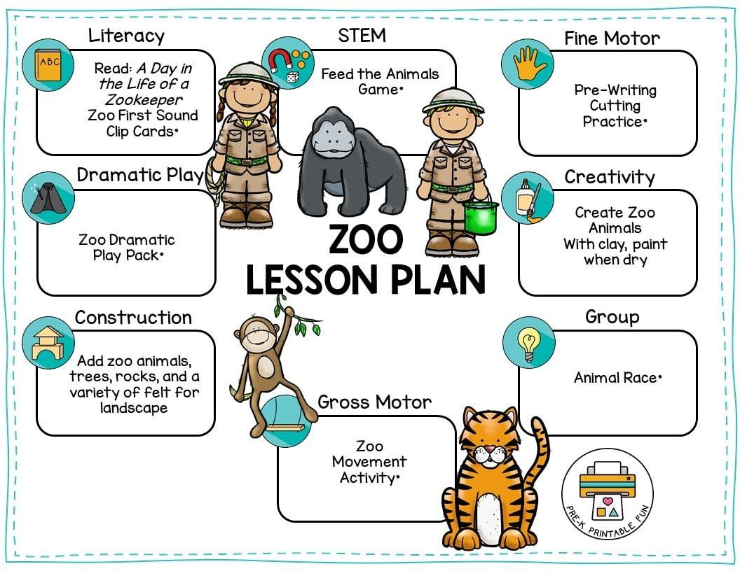 Preschool Worksheets Zoo Animals 4