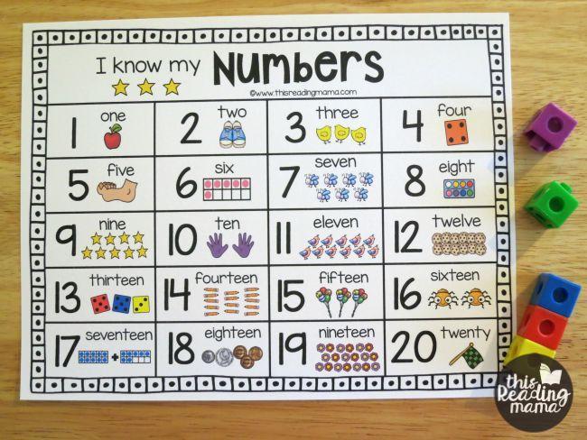 Preschool Writing Numbers Practice Worksheets