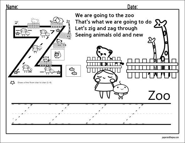 Preschool Writing Worksheets A-z For Beginners 14
