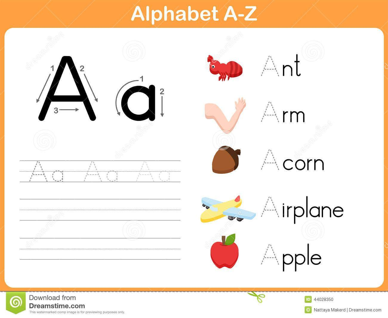 Preschool Writing Worksheets A-z For Beginners 3