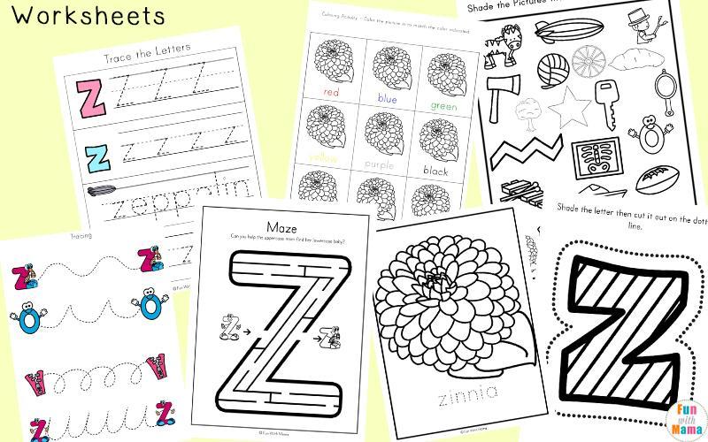 Preschool Z Worksheets 3
