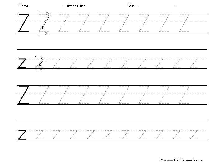 Preschool Z Worksheets 6