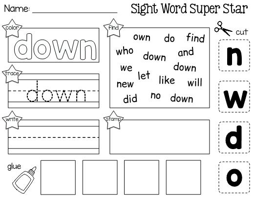 Up And Down Worksheets For Preschool