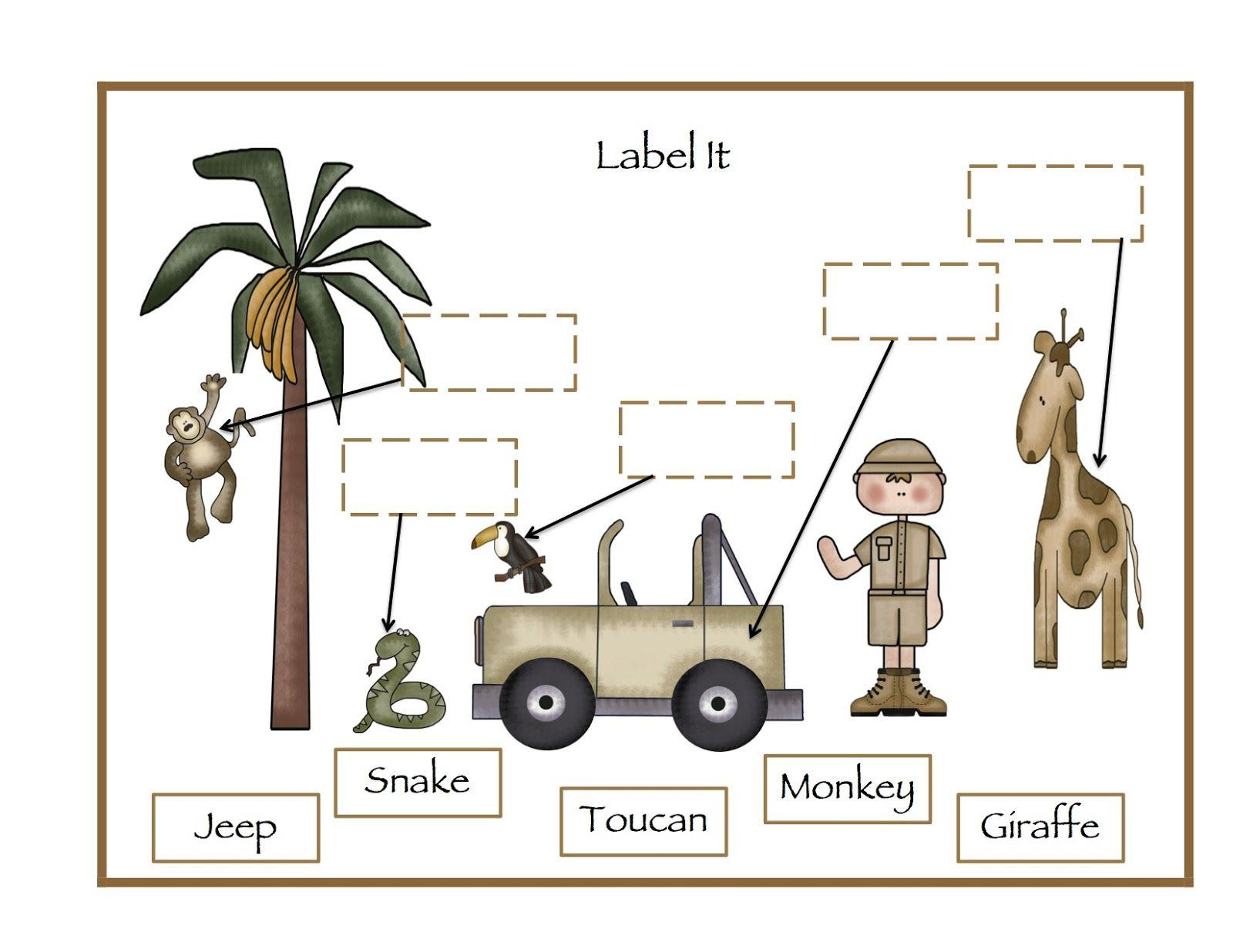 Zoo Animals Worksheets For Preschool