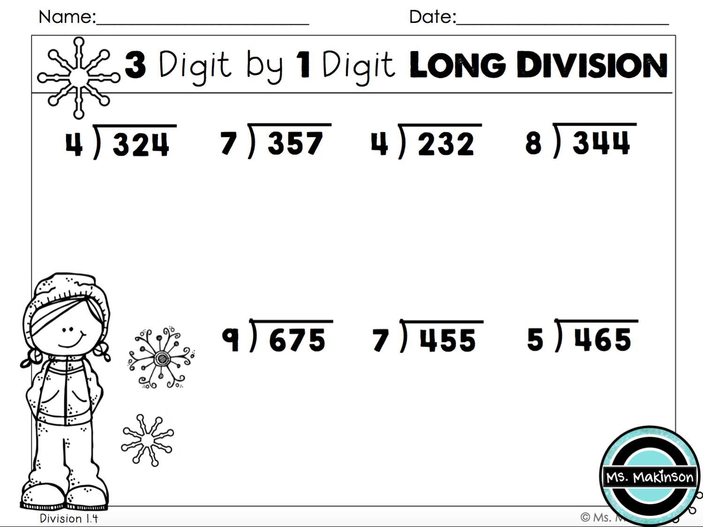 Homeschool Math Worksheets Long Division