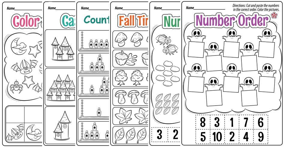 Kindergarten Math Worksheets Halloween