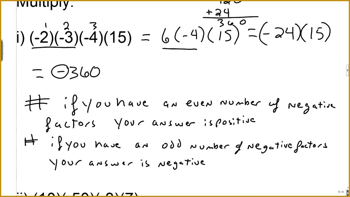 Math Integers Worksheets Grade 7 Pdf