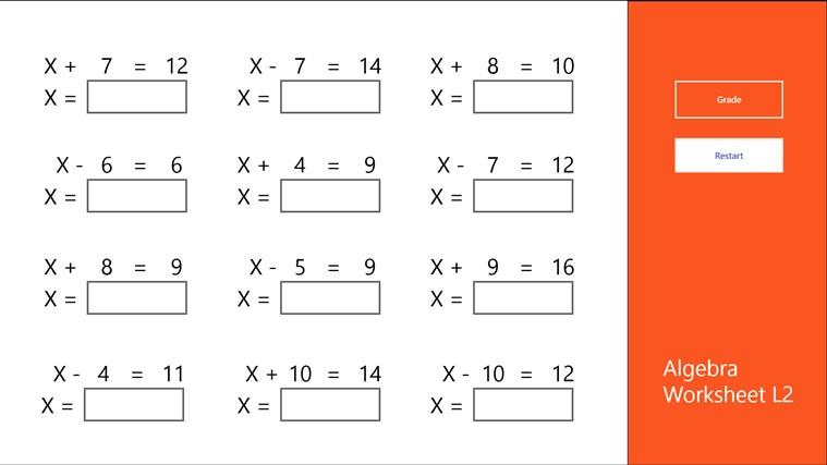 Math Worksheets Easy 4