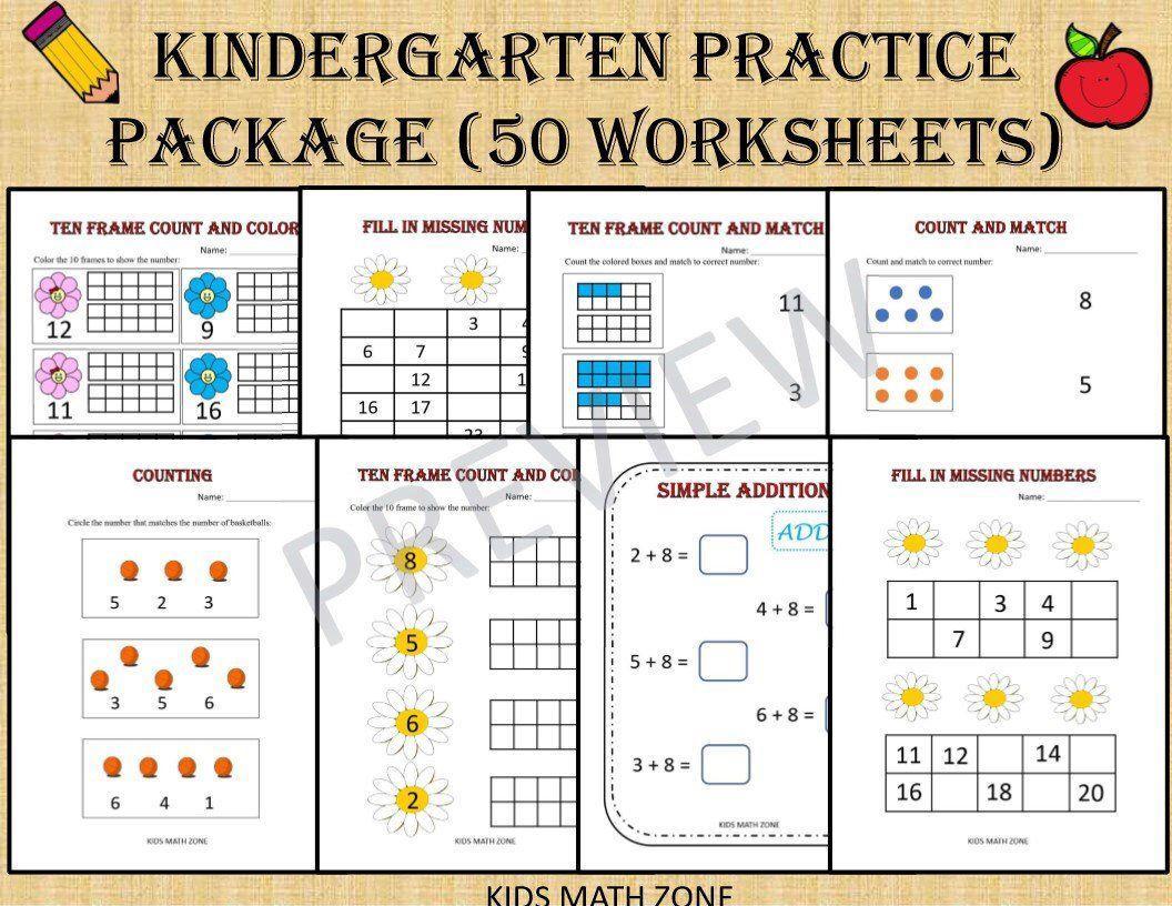 Math Worksheets For Jr Kg Students 1