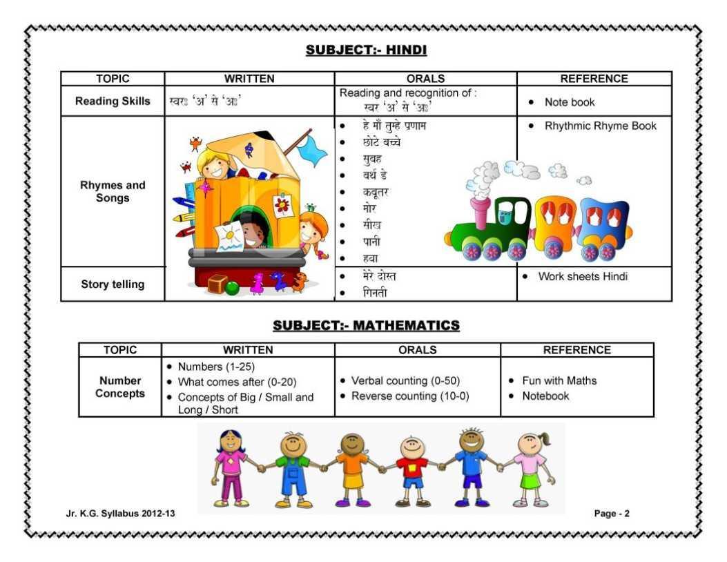 Math Worksheets For Jr Kg Students
