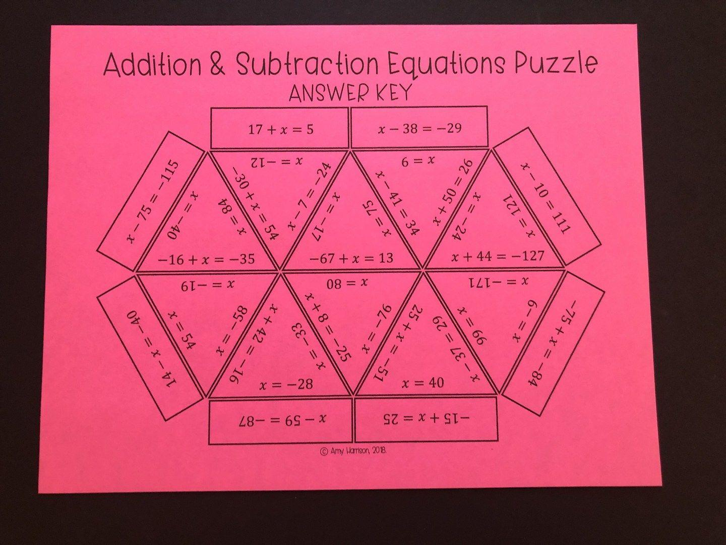 Math Worksheets For Junior High Students 3
