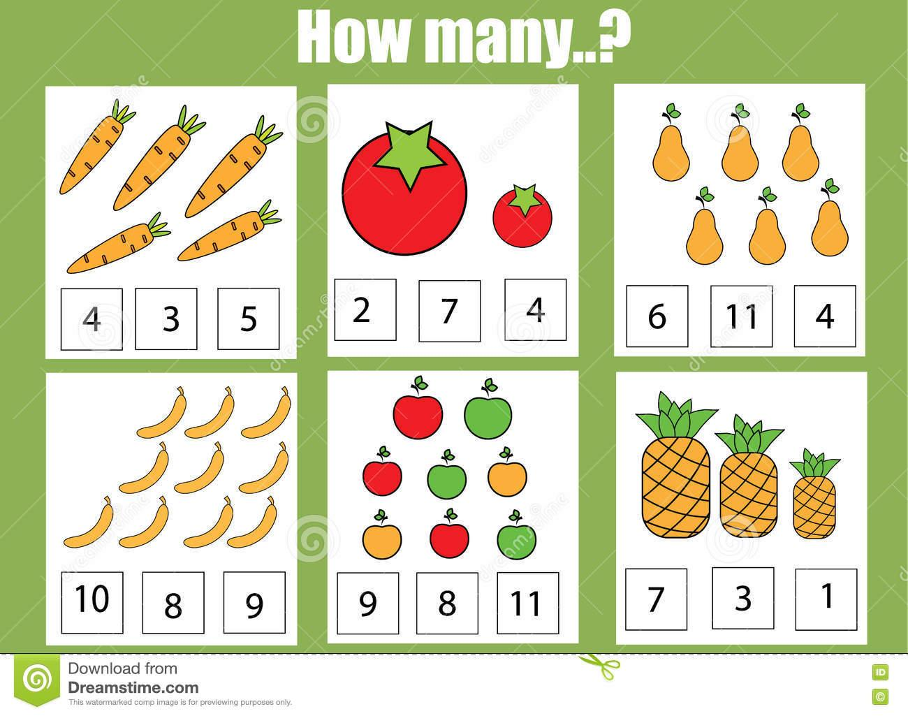 Math Worksheets How Many 1