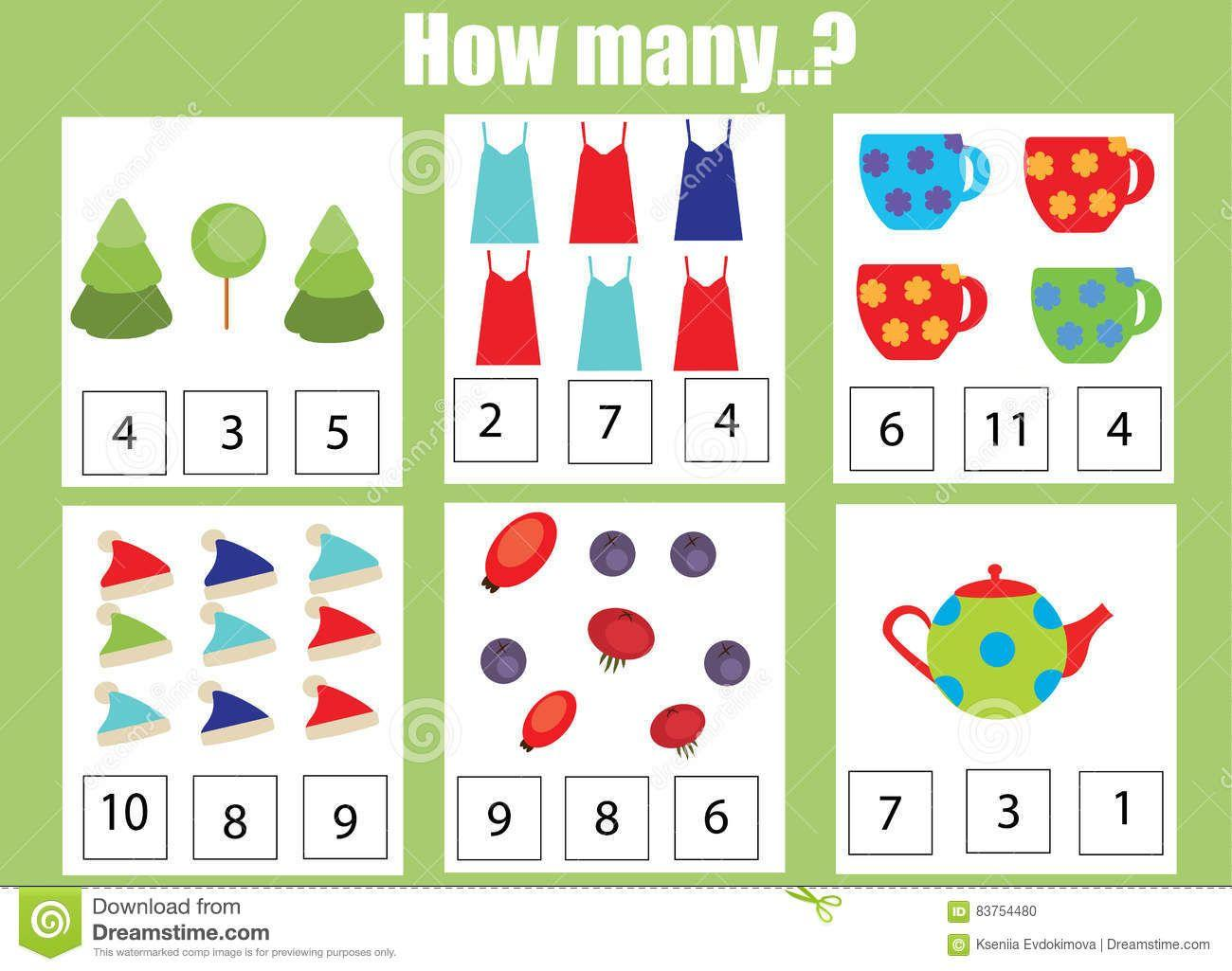 Math Worksheets How Many 7