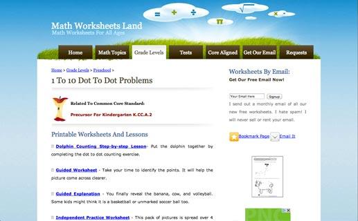 Math Worksheets Land 1