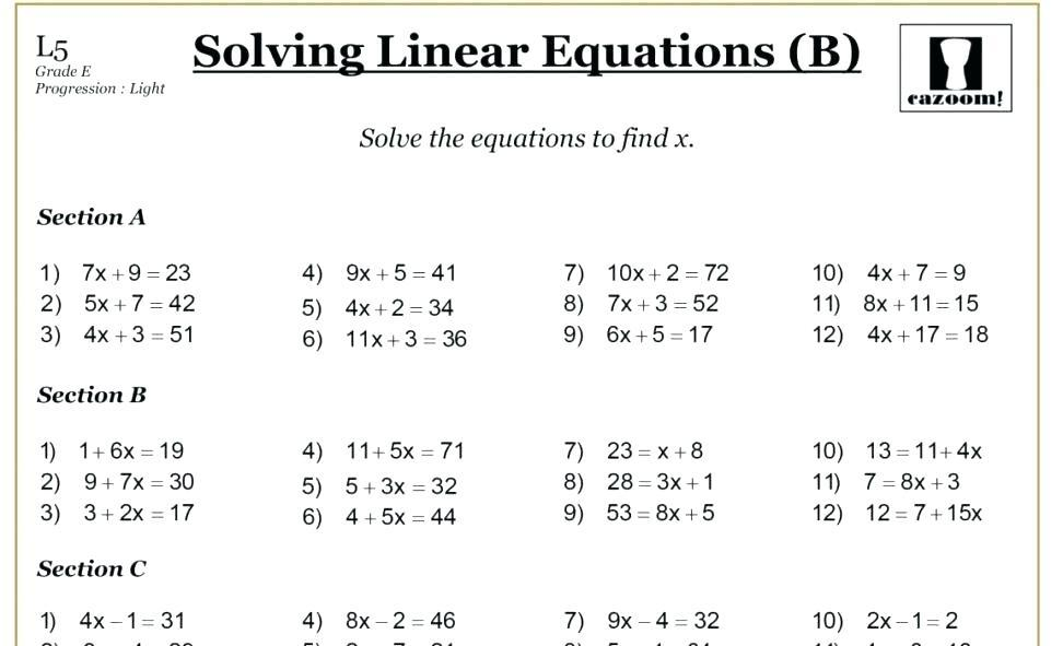 Math Worksheets Multiplication And Division Of Integers