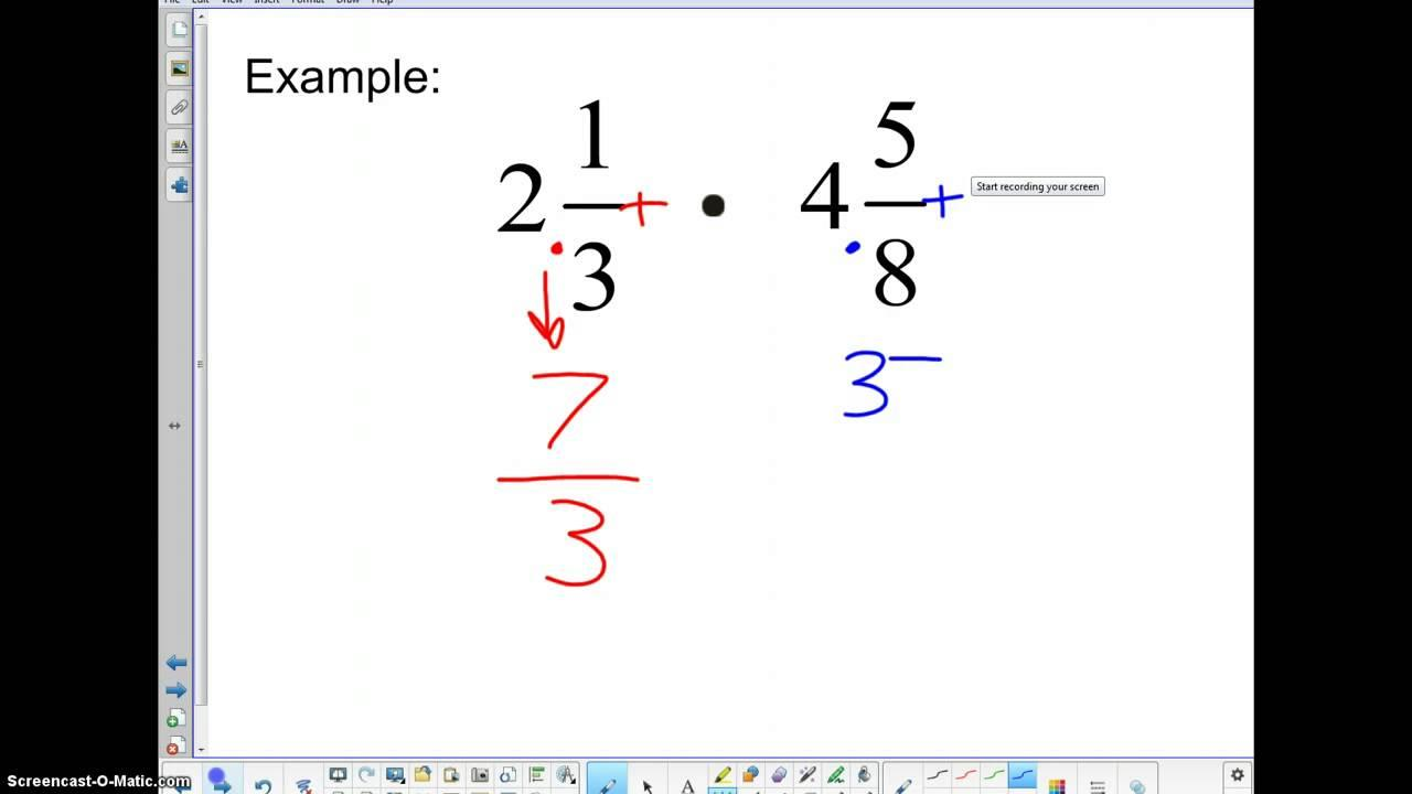 Math Worksheets Multiplying And Dividing Fractions