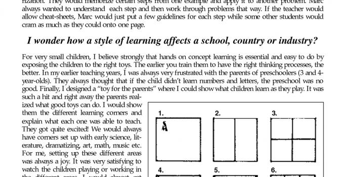 Menu Math Worksheets Middle School
