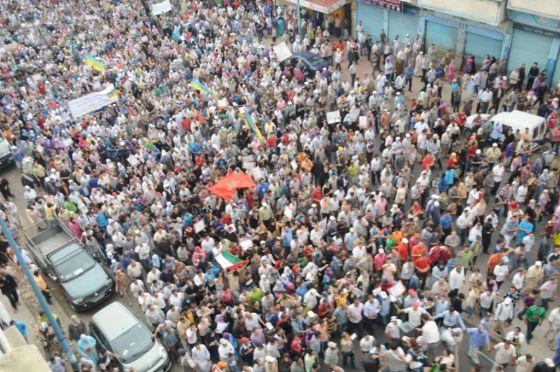 Rua em Marrocos durante a Primavera Árabe