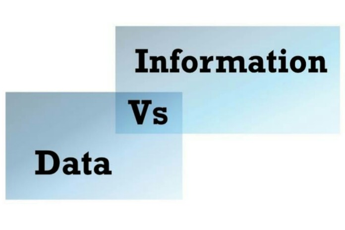 Key Difference Between Data and Information