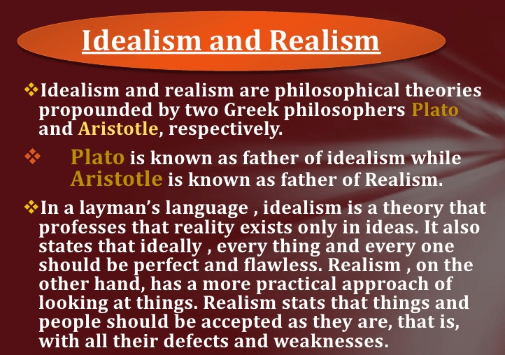 Difference between Idealism and Realism  Idealism vs Realism