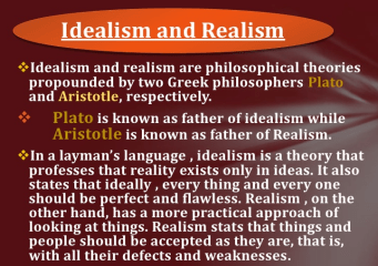 Difference between Idealism and Realism
