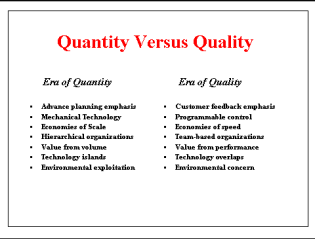 Difference between Quality and Quantity