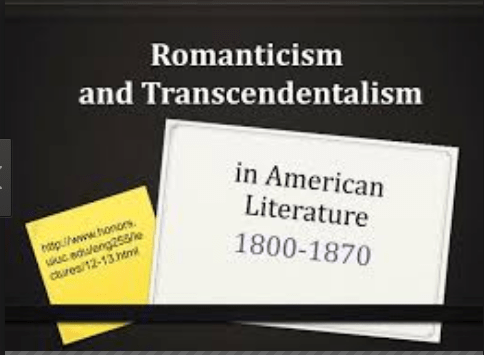 Difference between Romanticism and Transcendentalism