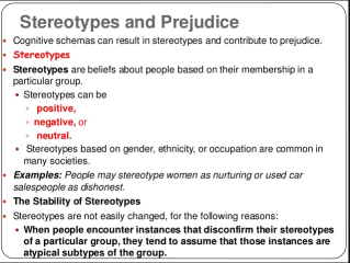 Difference between Stereotype and Prejudice