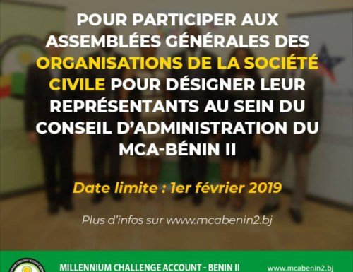 MCA Bénin II – Avis à manifestation d'intérêt des organisations de la société civile