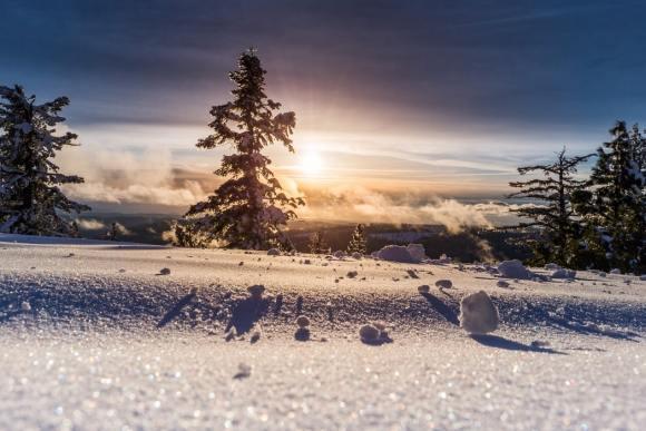 Winter solstice nature landscape