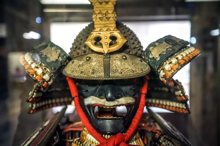 Samurai traditional war helmet