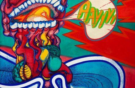 Abstract painting by Cuban artist Umberto Peña