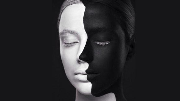 Black and white double face
