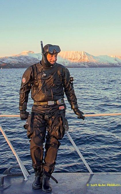 Aldo Ferrucci à la sortie d'une plongée
