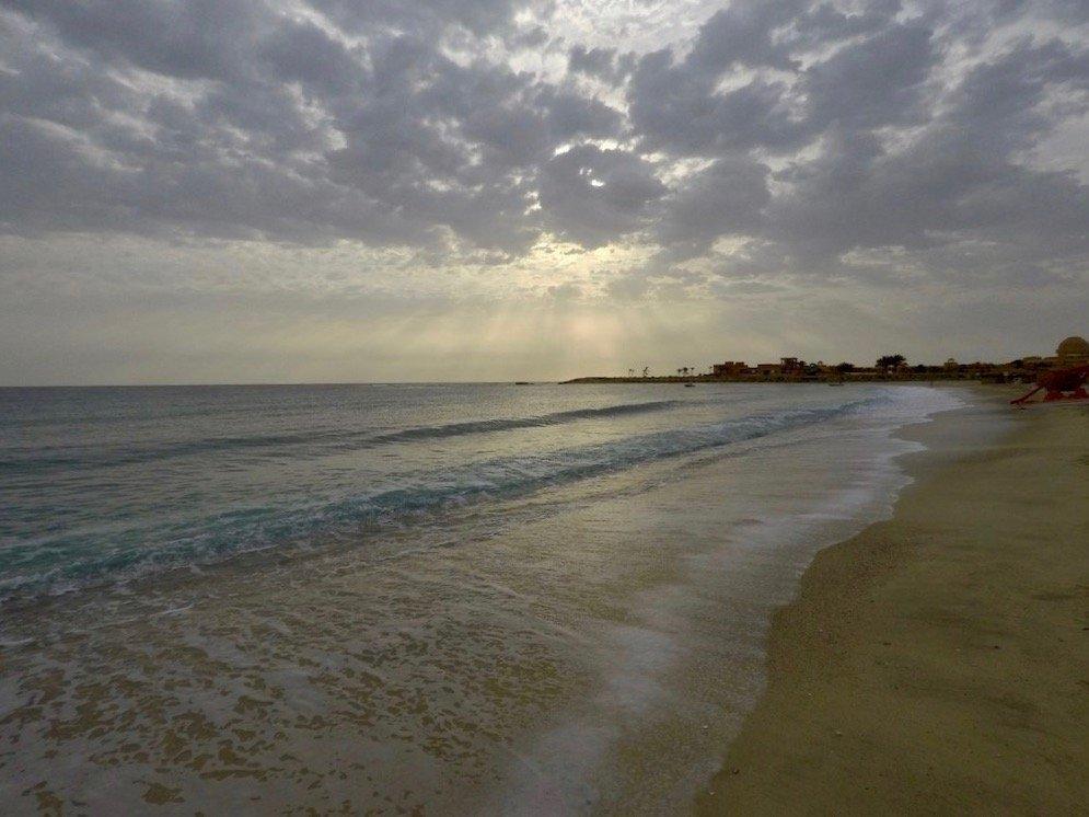 La plage d'Abu Dabbab le matin