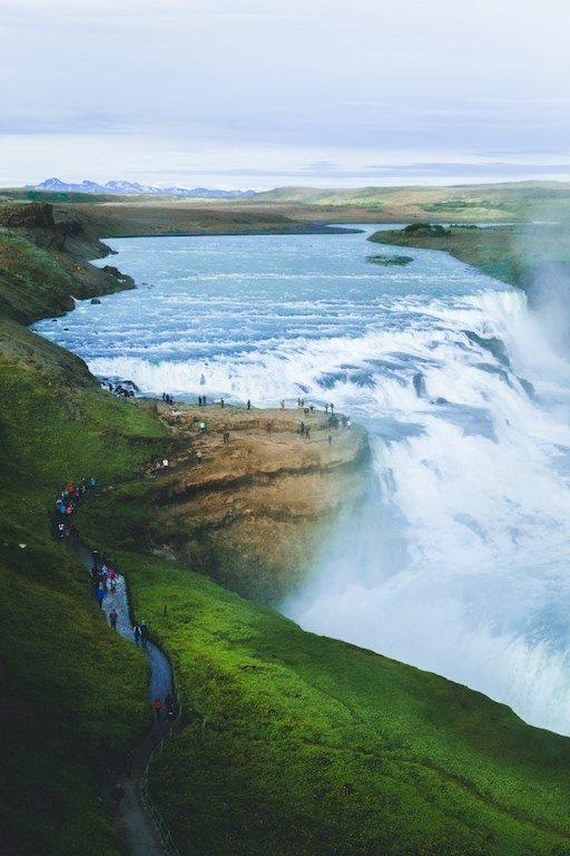La chute de Gulfoss en Islande