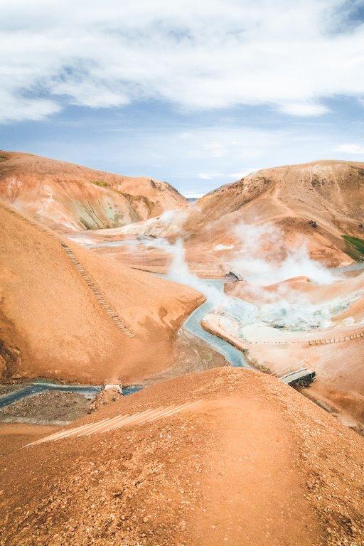 Photo de paysage du kerlingarfjol en islande