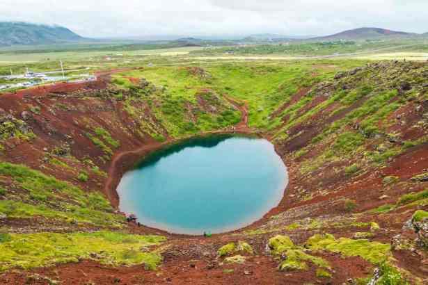 Vue du haut du volcan Kerio