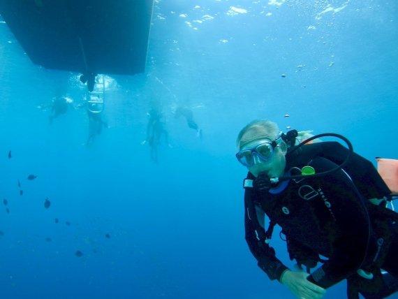 Un plongeur ayant un foramen ovale perméable fait une plongée dans la caraïbe.