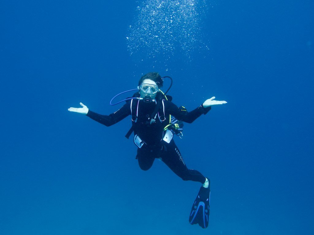 Hélène en plongée