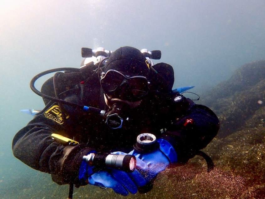 Stephane Egger juste avant l'accident de plongée immérité