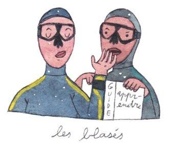 Illustration de Sara Quod représentant deux plongeurs de profil blasés