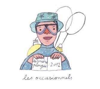 Illustration de Sara Quod représentant un plongeur de profil occasionnel