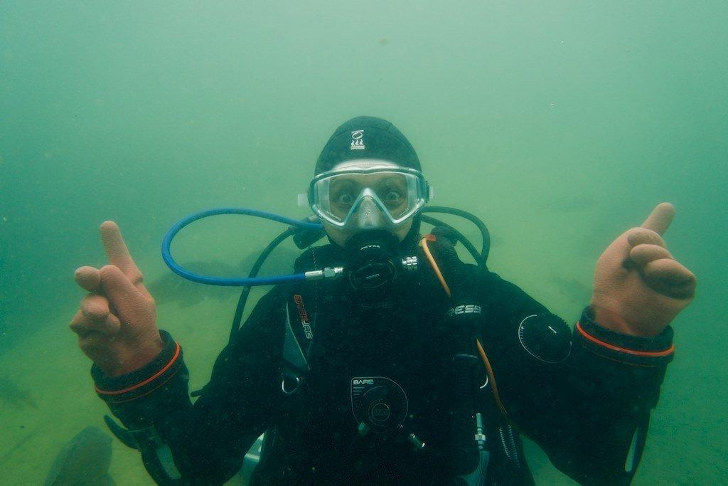 Hélène sous l'eau à Rochefontaine