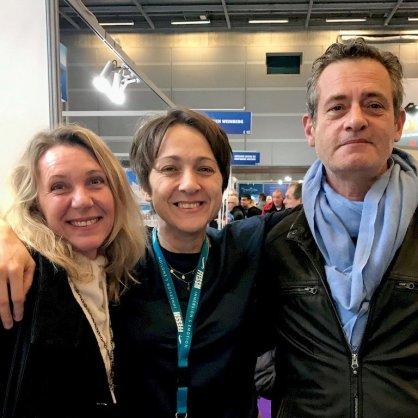 Hélène avec Elsie et Bertrand