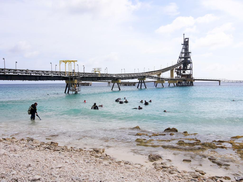 Le site de plongée de Salt Pier à Bonaire.
