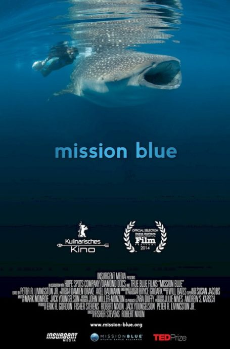 Dans la catégorie documentaire des films de plongée on retrouve Mission Blue avec Sylvia Earle.