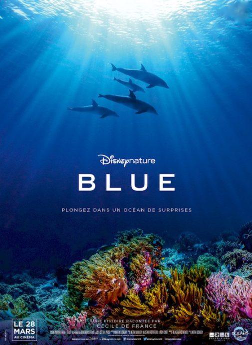 Les films de plongée se déclinent aussi en version enfant avec ce dessin animé de Disney : Blue.