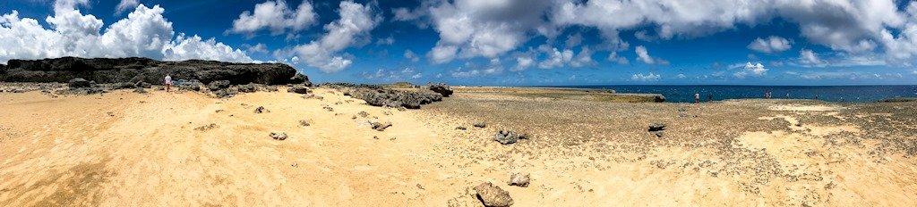 Paysage de l'est de l'île de Bonaire.