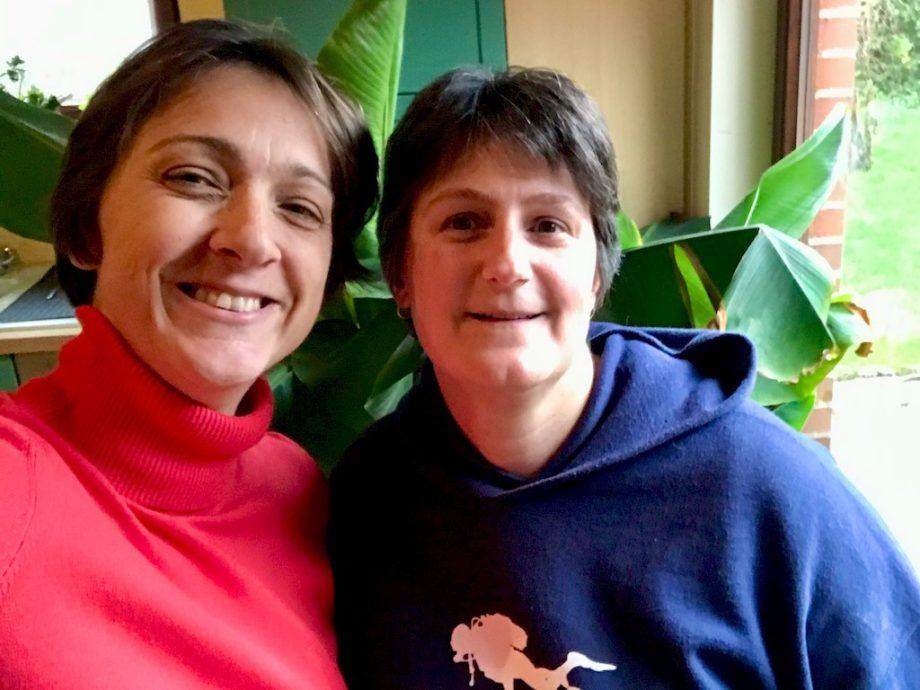 Hélène Adam et Stéphanie Romnée.